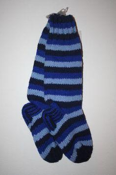 de47d7da0d739 Fair Trade Wool Blue Striped Socks Handmade Nepal Striped Socks