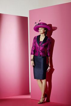 90364 – Plum/Navy (Condici) - Mother of the Bride - Compton House Of Fashion