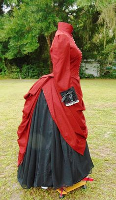 The Antique Sewist: Truly Victorian 367 - 1887 Cascade Overskirt