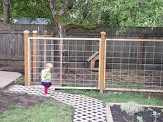 A dog yard-- this is a good idea! You could then have a garden, too! (Instead of trying to have a garden and having your pitbull trample all over it like mine!)