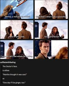Doctor Who; Donna Noble; Planet of the ood; his face is hilarious