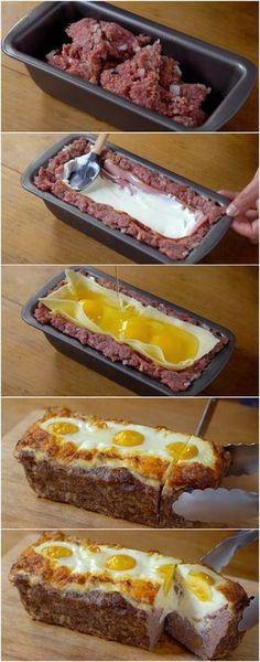 Receita de Bolo de Carne Recheado: quando você aprender vai querer fazer sempre! #bolo #bolodecarne #bolorecheado