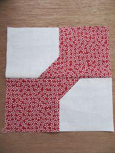 """Costurar muitas maneiras ...: Bow Tie Quilt bloco Tutorial ... A """"Charme"""" ing bloco"""