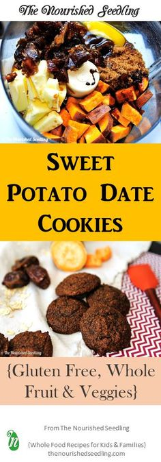 When looking for a sweet treat, these gluten free cookies not only satisfy the craving, but the sweet potatoes also pack a nutritional punch of fiber, vitamin A, potassium and copper.  The two ingredients, molasses and oatmeal in the recipe add a healthy dose of iron as well.