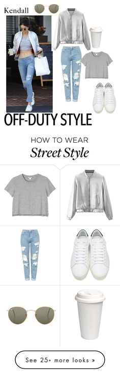 """""""KJ out shopping"""" by genderschmender on Polyvore featuring WithChic, Topshop, Monki, Yves Saint Laurent, Ray-Ban, genderfluid and thisoutfitonaguy"""