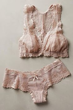 This set from Anthropologie has gorgeous luxurious textures and is a soft neutral color that will look incredible in photos.