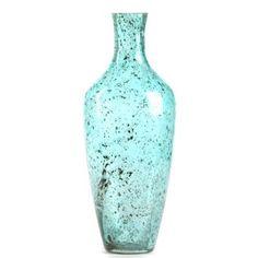 Aqua Pebble Glass Vase   Kirkland's