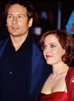 David Duchovny and Gillian Anderson Fight the Future Premiere