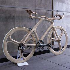 bicycle made of wood by Japanese designer Yojiro Oshima