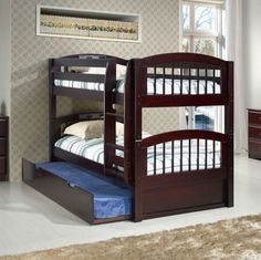 Viv + Rae Isabelle Twin Bunk Bed with Trundle Finish: Cappuccino