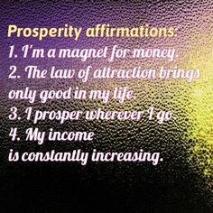 Daily affirmations for you.