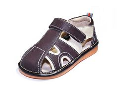 HLT ToddlerLittle Kid Boy Summer Fun Brown Squeaky Sandal US 7  EU 23 >>> Click image to review more details.Note:It is affiliate link to Amazon.