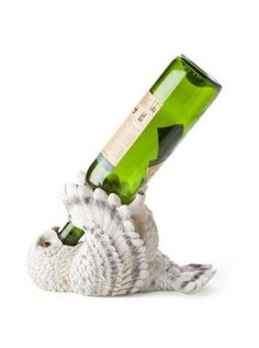 Snowy Owl Wine Bottle Holder