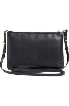 Main Image - Saint Laurent 'Teen' Leather Crossbody Bag with Tassel Charm