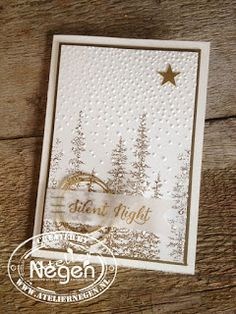 Stampin' Up! - Wonderland stamp set and Softly Falling embossing folder - Created by Atelier Negen - www.laulijn.nl