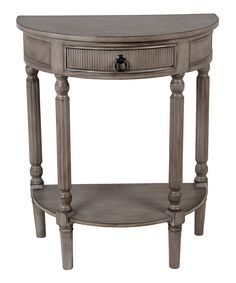 Loving this Weathered Stone Half-Round Tiered Console Table on #zulily! #zulilyfinds