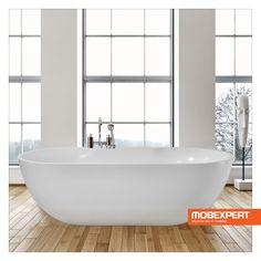 Cada Aqua este realizata din acril sanitar, care necesita eforturi reduse la instalare - nu are nevoie de mască și nici nu trebuie să fie îngropata în podea. Suprafața dură, fără pori, a acrilului împiedică apariția mucegaiului sau a bacteriilor, astfel că Aqua este totodată și o soluție eficienta din punct de vedere al igienei. #mobexpert #mobilier #baie Bathtub, Bathroom, Standing Bath, Washroom, Bath Tub, Bathtubs, Bathrooms, Bath