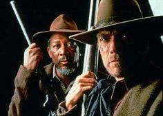 """Unforgiven""  (1992) Directed by Clint Eastwood.  Morgan Freeman & Clint Eastwood"
