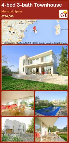 Townhouse for Sale in Marratxi, Balearic Islands, Spain with 4 bedrooms, 3 bathrooms - A Spanish Life Murcia, Valencia, Barcelona, Balearic Islands, Spacious Living Room, Marble Floor, Private Garden, Large Windows, Wood Doors