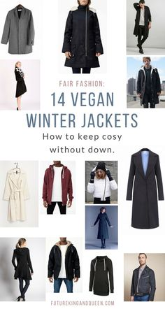 The best vegan warm winter jackets and coats brands. Made ethically from eco-friendly materials.
