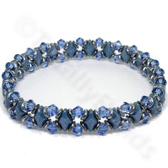 The GemDuo sparkle bracelet in light blue colour is a very simple bracelet to make. Using twin hole GemDuo beads, Czech O rings and premium crystal bicones to create a stack-able bracelet.This kit contains enough beads to make 2 braceletsYou will need a reel of flat elastic and large eye needle for this bracelet which can be purchased separatelyFully illustrated instructions are included with the kit.