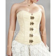 Wholesale Stylish Strapless Button Design Push-Up Lace-Up Women's Corset Only $12.08 Drop Shipping | TrendsGal.com