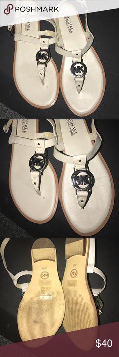 Michael Kors thong sandals size 6.5 light cream Michael Kors thong sandals size 6.5 light cream color. Used a few times MICHAEL Michael Kors Shoes Sandals