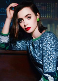 lily collins. always the ideal beauty