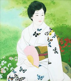 'Garden in Early Summer' woodcut by Shinsui ITO