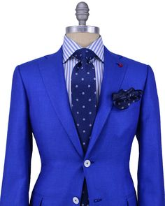Isaia Solid Blue Sportcoat