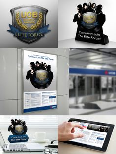 Logo Branding, Brand Identity, Reward And Recognition, Brand Campaign, Print Ads, Multimedia, Division, Strong, The Unit