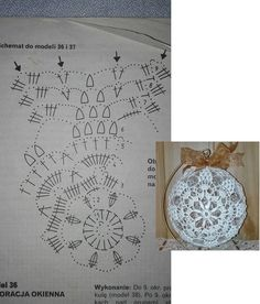 "Best 11 Képtalálat a következőre: ""schematy bombek by siwa Christmas Crochet Patterns, Crochet Christmas Ornaments, Crochet Snowflakes, Christmas Baubles, Christmas Crafts, Christmas Decorations, Crochet Ball, Thread Crochet, Diy Crochet"
