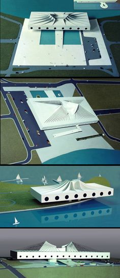 Projeto: Palácio das Artes-Centro Musical (4 versões) / Rio de Janeiro / RJ / Brasil - Autor: Arquiteto Oscar Niemeyer - Maquetes e fotos: Gilberto Antunes - Escalas: 1/250