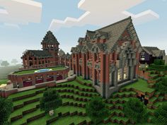 This was the first large scale build I ever did. Steve's University took me around 10 hours. Built before MCPE worlds were infinite haha. #MCPE #Steve'sUniversity #Creative #BrickCastle Credit: @CTQuickfall