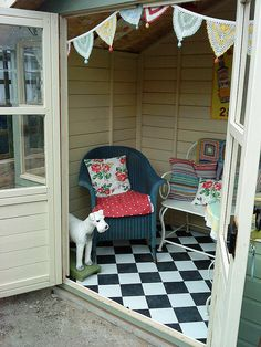 thinking I might need a summer house at the bottom of the garden instead of the rotten and outgrown kids playhouse