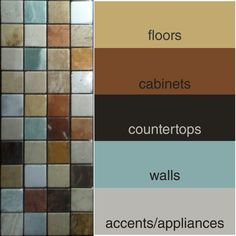 Here's the backsplash I chose and my colour palette.  What do you all think?