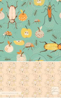 It's a bug's life pattern collection - by Lisa Glanz