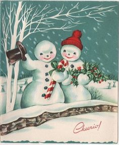 VTG Christmas Greeting Card Snowman Couple Candy Cane Holly Birch Tree Skis FOR SALE • $8.00 • See Photos! Money Back Guarantee. Please see photos for details. - measures 5.75 by 4.75 inches. Please check out my other auctions to save on shipping. 162560828132