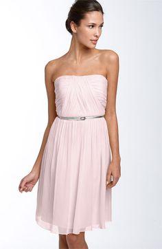 MOH dress? Donna Morgan Belted Chiffon Dress in Heavenly Pink ($158) #Nordstromweddings