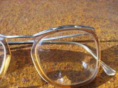 5172e01ca286 1950s Silver Browline Eyeglasses. French retro eye wear