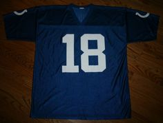 Vintage PEYTON MANNING  18 INDIANAPOLIS COLTS Football JERSEY-Mens 2XL-FREE  SHIP Peyton a37c8be2e