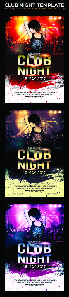 Club Night - PSD Flyer Template Psd flyer templates, Flyer - grand opening flyer template
