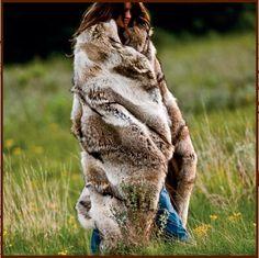 Magnificent Coyote Fur Blanket
