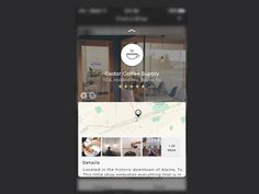 Dribbble - Coffee App Finder | 3D Touch by Andrew Daniels