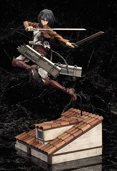 Ltd Ed. Mikasa Ackerman: DX Ver. 1/8th scale with special base made to look like one of the buildings in the series -- modeled after the cover illustration of the 2nd Volume BD/DVD |  Holy crap wow! That is one seriously dynamic figure!!!  | Schedued Release Date: 2014/10 | Good Smile Company | Sculptor: kiking |¥13704