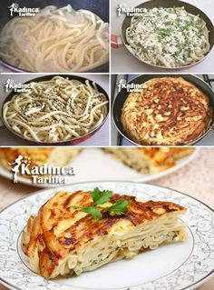 Tavada Makarna Böreği Tarifi Turkish Kitchen, Turkish Cuisine, Turkish Sweets, Fresh Fruits And Vegetables, Pul Biber, Cooking Time, Greek Cooking, Cooking Recipes, Fish And Meat