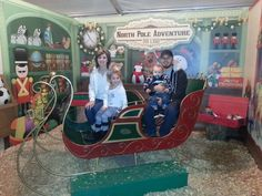 Me and my awesome family riding in Santa's sleigh