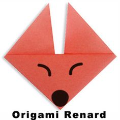 Origami facile pour réaliser une tête de renard en pliage de papier