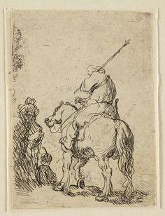 Mijn favoriete Rembrandt in Teylers Museum: Soldaat met tulband op paard (B139)