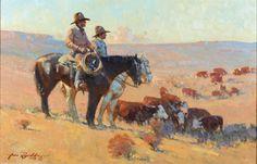 james reynolds artist   Original Western Art   High Noon Western Auction